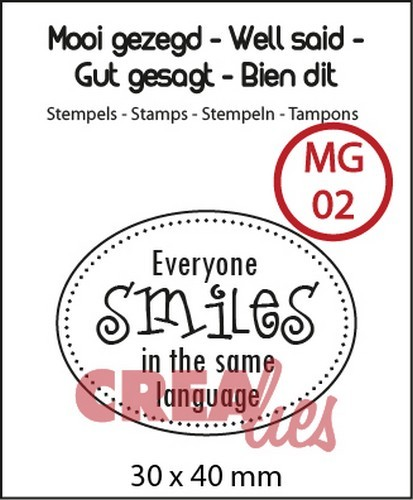 Clearstamp - Crealies - Everyone Smiles