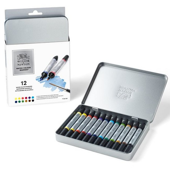 Winsor & Newton - Water Colour Markers - Set met 12 markers