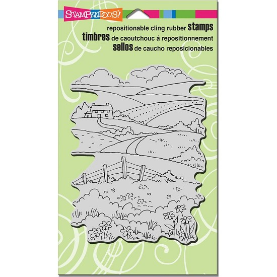 Cling stamp - Stampendous - Rolling Hills
