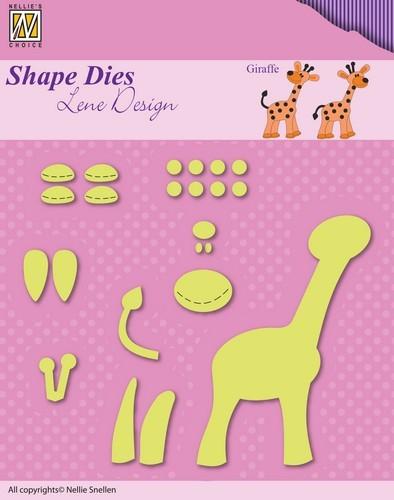 Stansmal Nellie Snellen - Shape Die - Lene Design - Opbouw Giraffe