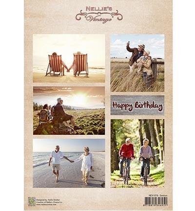 Knipvel Nellie Snellen - Decoupage Sheet - Vintage Senioren
