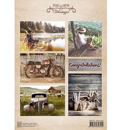 Knipvel Nellie Snellen - Decoupage Sheet - Men Things