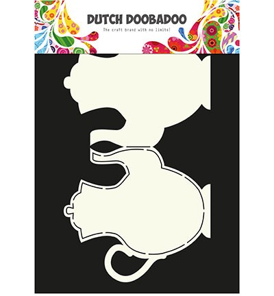 PRE-ORDER 6 - Dutch Doobadoo - Dutch Card Art - Teapot