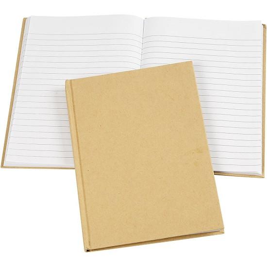 Notitieboek kraft - afmeting A5 - 15 x 21 cm