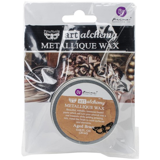 Finnabair Art Alchemy - Metallique Wax .68 Fluid Ounce - Aged Brass