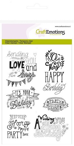 Clearstamp CraftEmotions - A6 - Birthday Handlettering