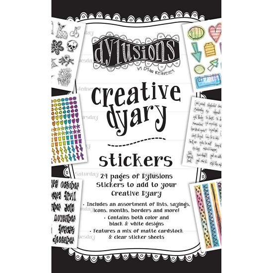 Dyan Reaveley`s - Dylusions Creative Dyary - Sticker Book