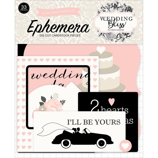 Echo Park - Wedding Bliss - Ephemera Die Cuts Icons