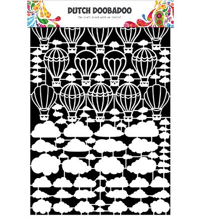 Dutch Doobadoo - Dutch Paper Art - Airballoons / Clouds