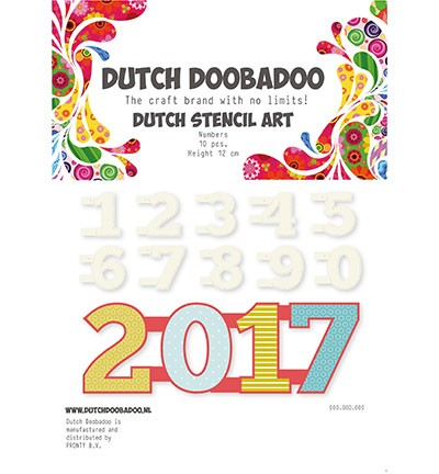 PRE-ORDER 5 - Dutch Doobadoo - Dutch Stencil Art - Numbers 0-9