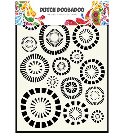 Dutch Doobadoo - Dutch Mask Art - Circles