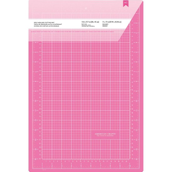 Cutting Mat Pink Double Sided Self Healing 12x18 Hobbyvision