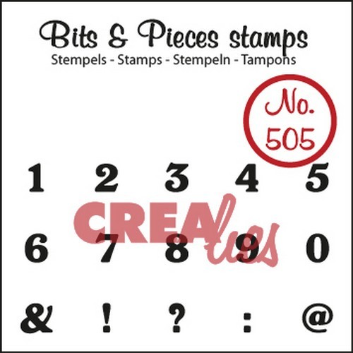 Clearstamp Crealies - Bits & Pieces - 505 Cijfers