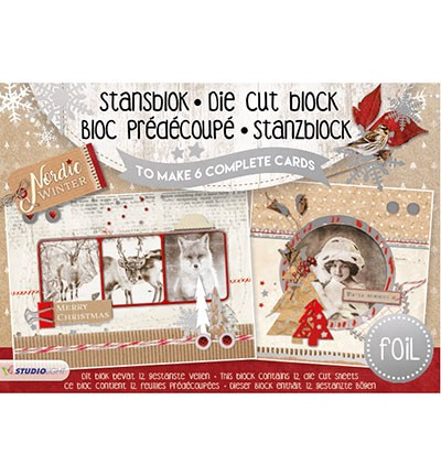 Studio Light - A5 Stansblok with Foil - Nordic Winter