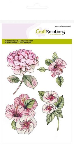 CraftEmotions - Clearstamp - Hortensia Hibiscus
