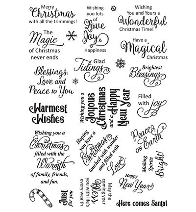 Clearstamps Creative Expressions - Christmas Sayings