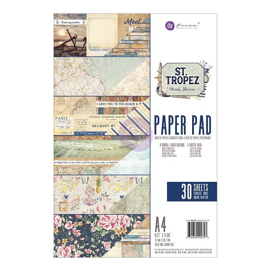 Prima Marketing - St. Tropez - Paperpad A4  (30/pkg)