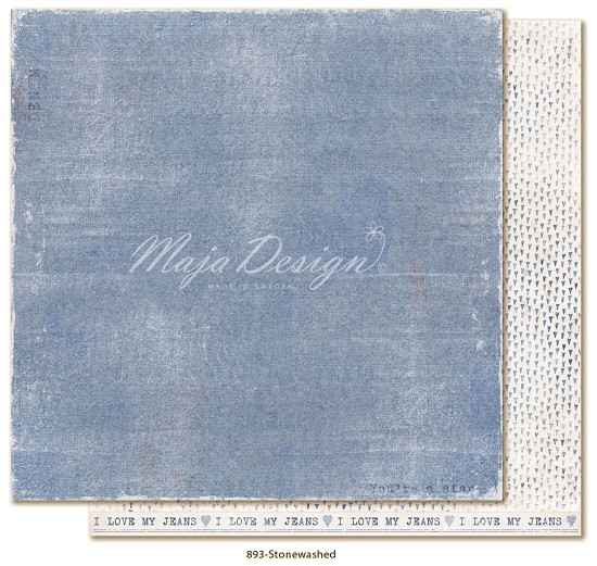 Scrappapier Maja Design - Denim & Friends - Stone Washed