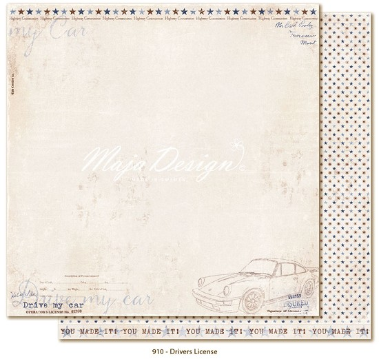 Scrappapier Maja Design - Denim & Friends - Drivers License