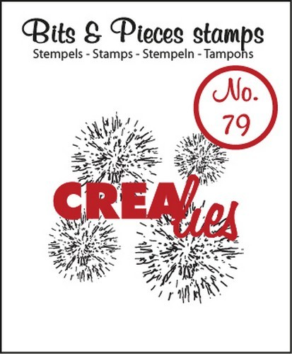 Clearstamp Crealies - Bits & Pieces - No 79 Grunge 4x