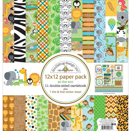 Collection kit - Doodlebug Double-Sided Paper Pack 12
