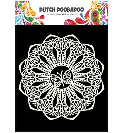 Dutch Doobadoo - Dutch Mask Art - Butterfly rond