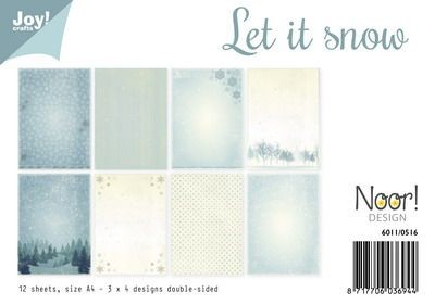 Noor! Design - Paperpad A4 - Let it Snow