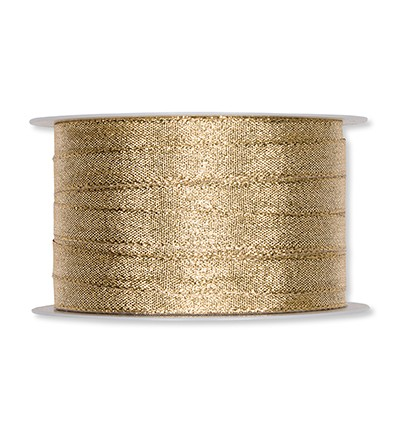 Lint - Narrow Lurex Ribbon - Gold 10mm