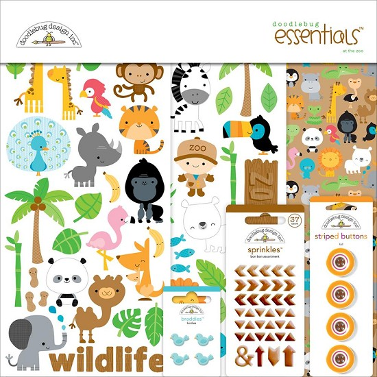 Doodlebug - At the Zoo - Essentials Page Kit 12
