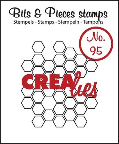 Clearstamp - Crealies - Bits & Pieces - nr 95 Open Honeycomb