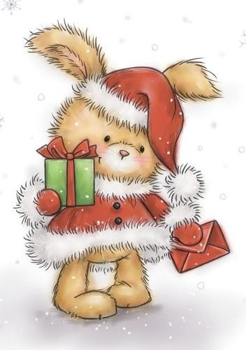 Clearstamp Wild Rose Studio`s - Christmas Bunny