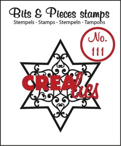 Clearstamp - Crealies - Bits & Pieces - no 111 Ster B