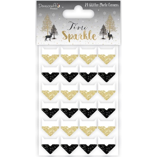 Dovecraft - Time to Sparkle - Glitter Corners