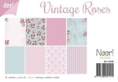 Noor! Design - Paperpad A4 - Vintage Roses