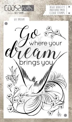 Clearstamp Coosa Crafts - Go Dream COC-029