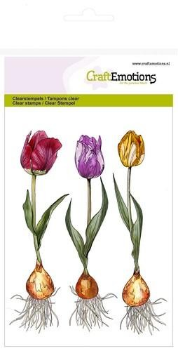 Clearstamp CraftEmotions - A6 Tulp