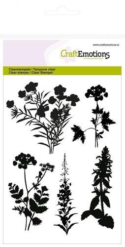 Clearstamp CraftEmotions - A6 Silhouet Berm planten