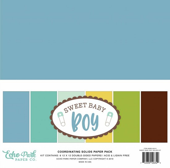 Echo Park - Sweet Baby - Boy Solid Cardstock Collection 12