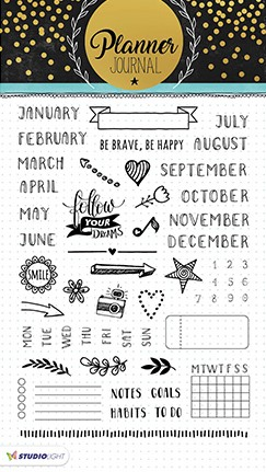 Studio Light - Planner Journal - Clearstamp STAMPPJ02