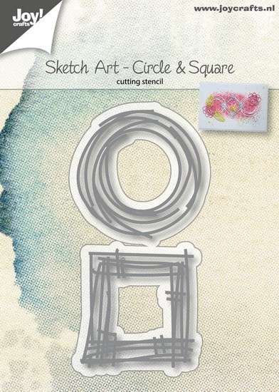 Joy! Crafts - Cutting & Embossingstencil - Sketch Art - Circle & Squares
