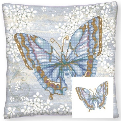 Diamond Dotz - 44 x 44cm - Pillow Papillon Bleu - DD16.006
