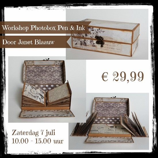Workshop - Scrappen Photobox Pen & Ink - Zaterdag 7 juli