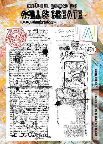 AALL & CREATE - Clearstamp A4 - number 54