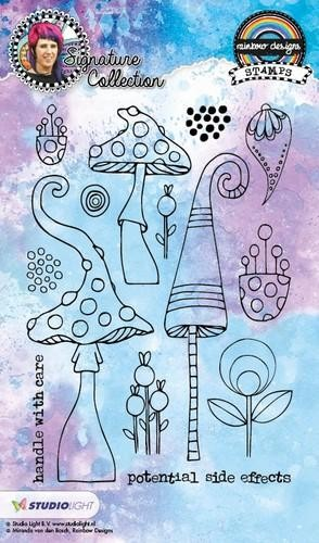 Studio Light - Mixed Media Rainbow Designs - Bloom STAMPMB13