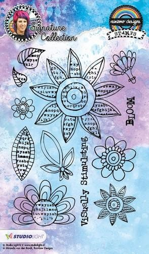 Studio Light - Mixed Media Rainbow Designs - Bloom STAMPMB12