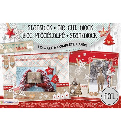 Studio Light - Stansblok A5 with Foil - Scandinavian Winter nr.13