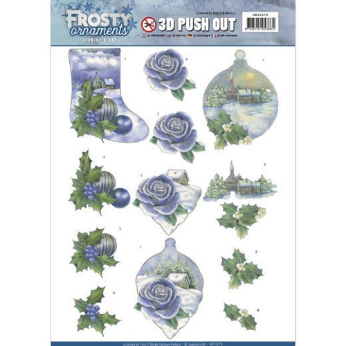 3D Push Out - Jeanine's Art - Frosty Ornaments - Snowy Landscapes