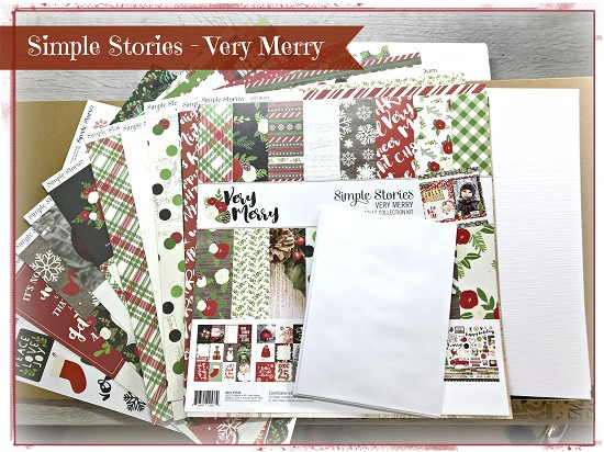 DIY Kit - Patricia`s Enveloppen Album - Very Merry