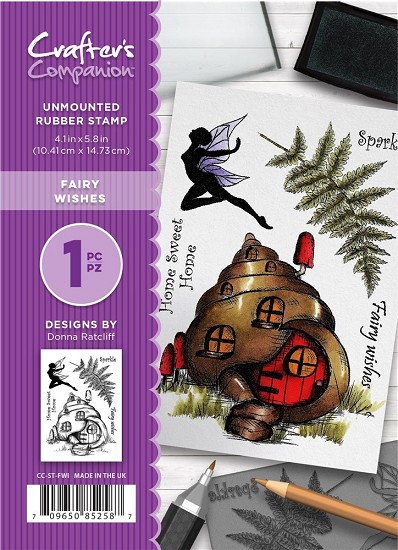 A6 Unmounted Rubberstempel - Crafter`s Companion - Fairy Wishes