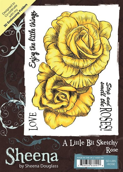 A6 Unmounted Rubberstempel - Sheena Douglass - Rose